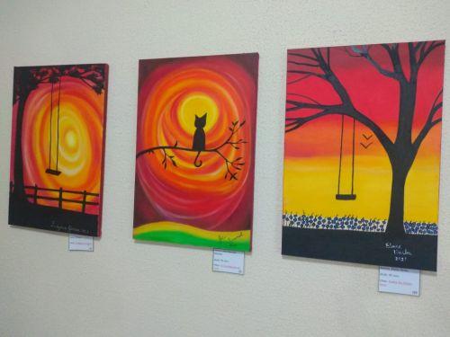 Cecom promove evento com exposição de quadros de alunos