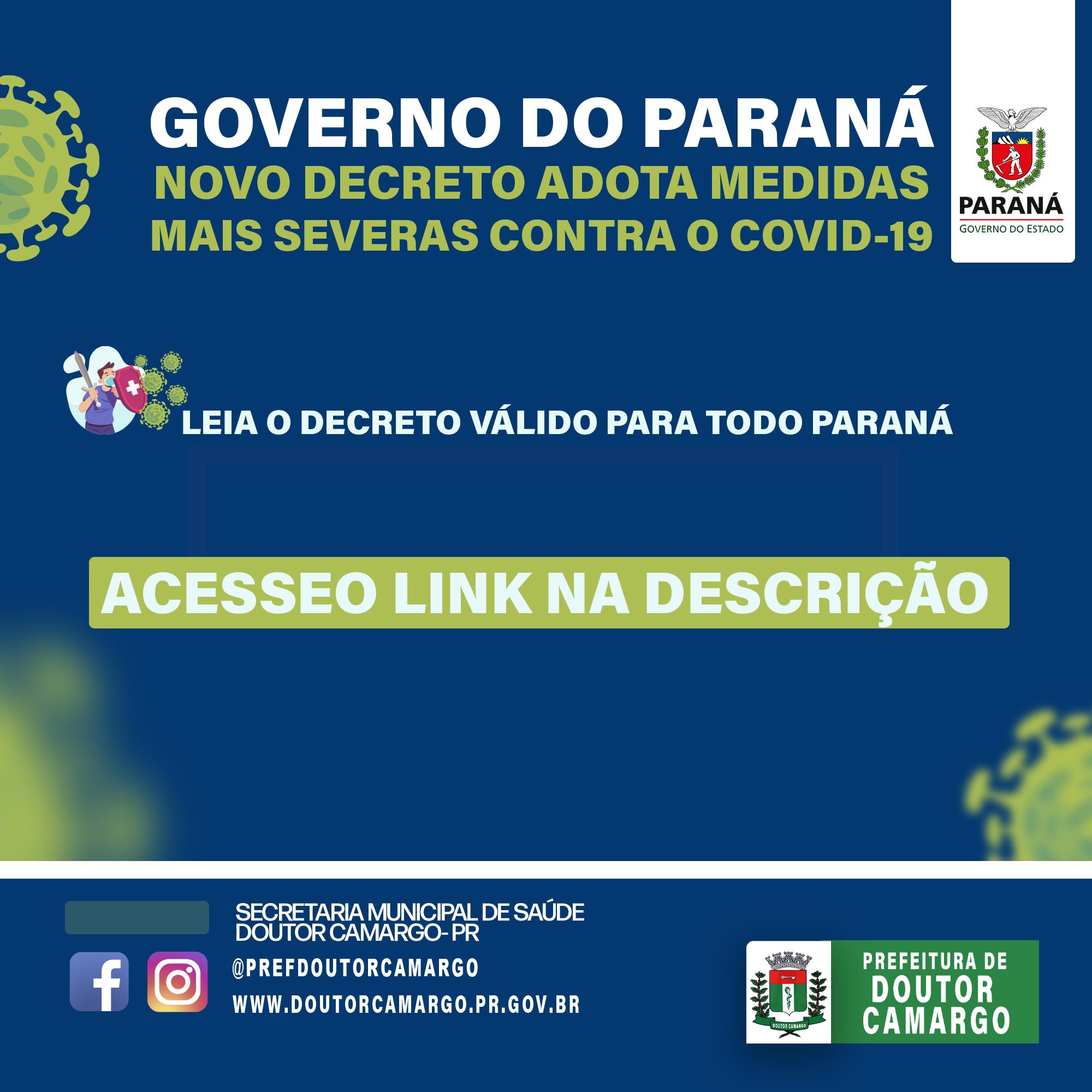GOVERNO DO ESTADO PUBLICOU NOVO DECRETO!