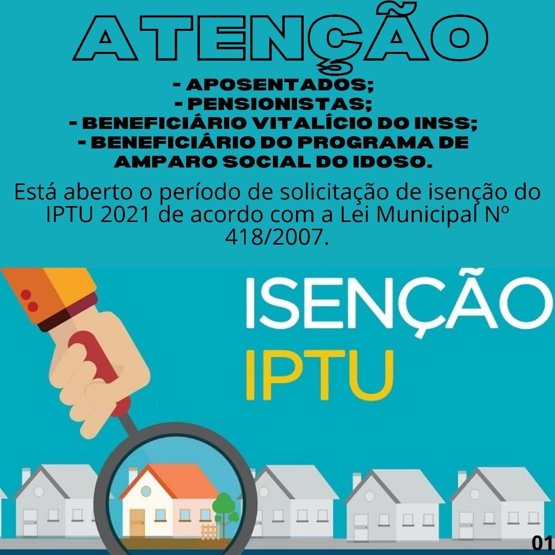 LEI MUNICIPAL DE ISENÇÃO DO IPTU
