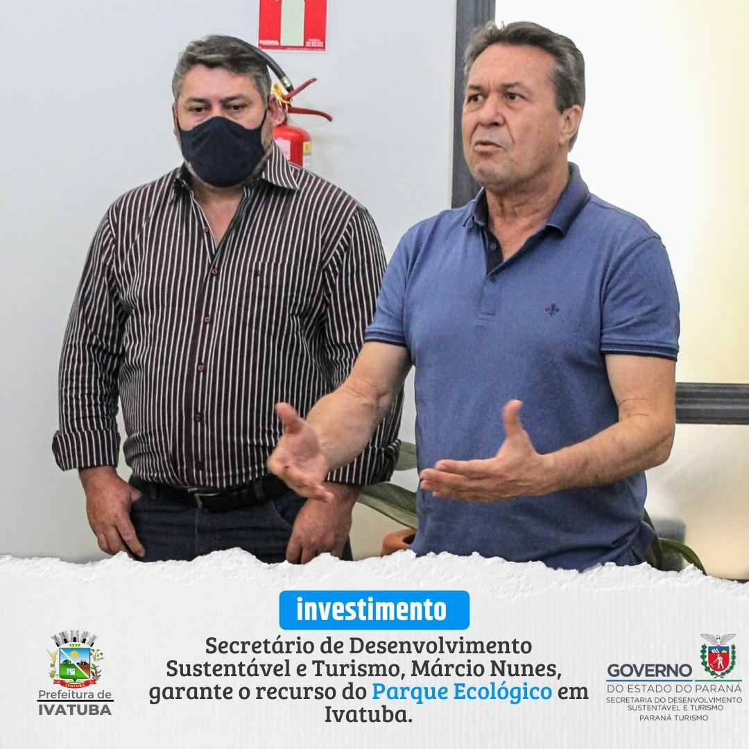 Visita do Secretário de Desenvolvimento sustentável e turismo, Márcio Nunes.