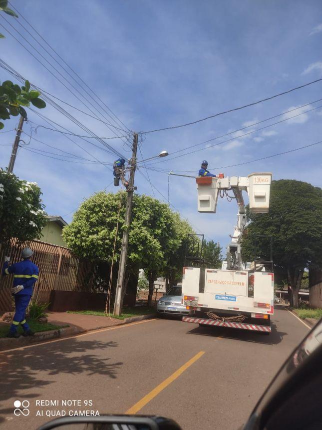 Novos bairros recebem iluminação em LED