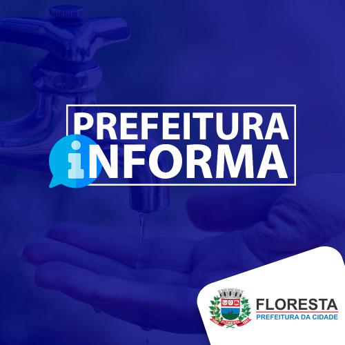UTILIDADE PÚBLICA : Obras podem afetar abastecimento de água em bairros de Floresta