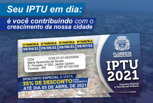 Contribuinte que quitar IPTU à vista até 05 de abril terá maior desconto