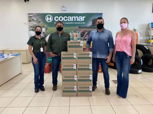Cocamar doa mais de 100 litros de álcool para Prefeitura de Floresta