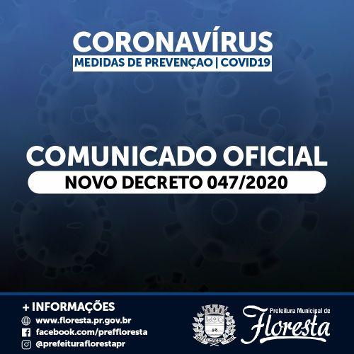 INFORMAÇÕES CORONAVÍRUS - COVID-19