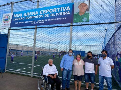 Mini arena esportiva é inaugurada no Jardim Pinheiros