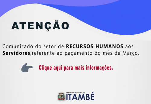 Comunicado do Recursos Humanos.