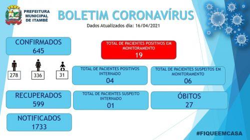 Boletim Informativo COVID-19 atualizado