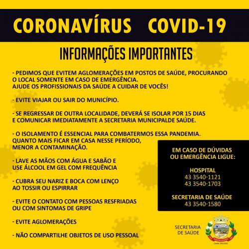 Informações sobre o Covid-19