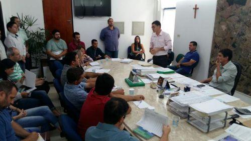 Reunião no Gabinete do Prefeito sobre o Plano PluriAnual