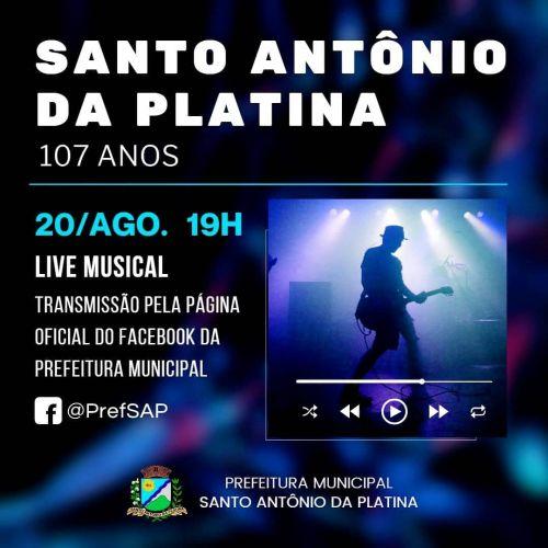 107 ANOS - Santo Antônio da Platina celebra aniversário com Live Musical