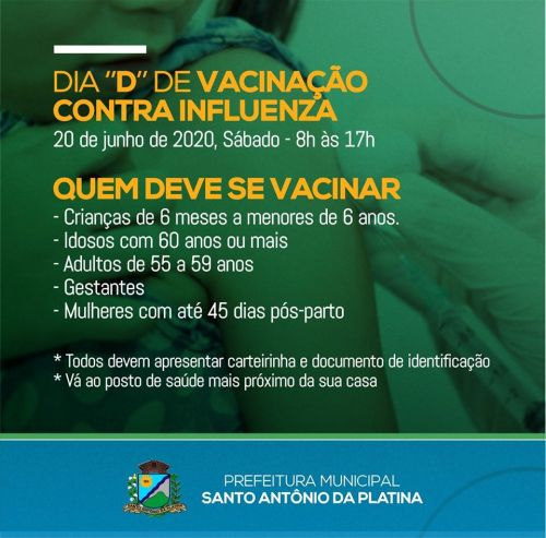 """Dia """"D"""" de Vacinação contra a Influenza"""