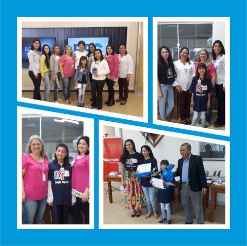 Alunas das Escolas Municipais Ercílio Custódio e Sagrada Família participam de premiação em Londrina