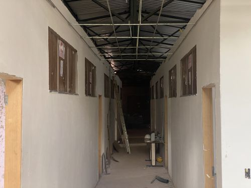 Obra da Escola Municipal do Monte Real esta 80% concluída.