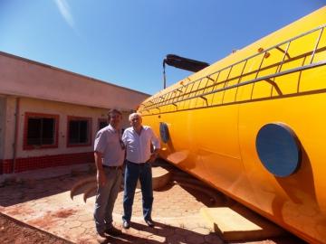 Instalação Caixa d'água CMEI Vitoria Regia