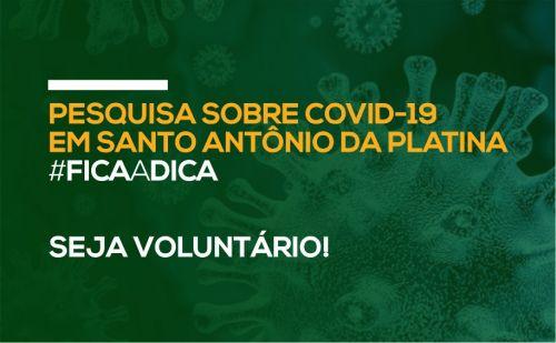 Pesquisa sobre COVID-19 em Santo Antônio da Platina