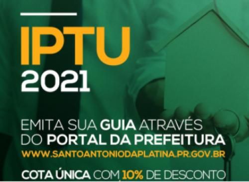 IPTU é prorrogado até o dia 10/04/2021