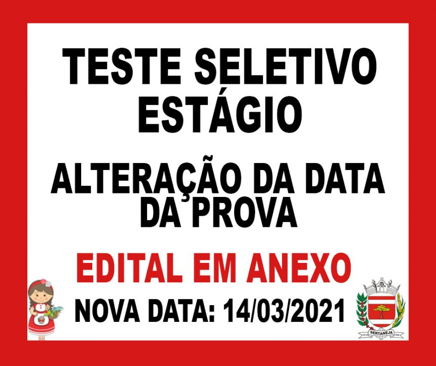 Alteracao data da prova