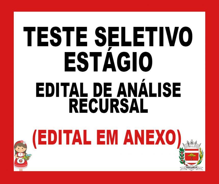 Edital de Analise de Recurso