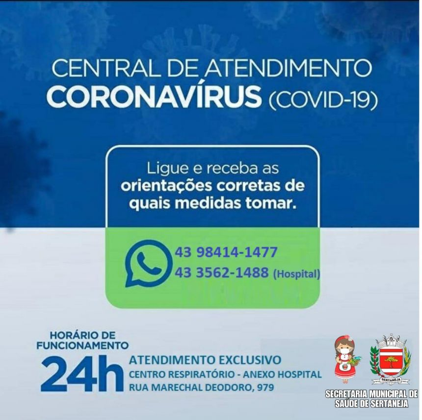 Central de Atendimento CORONAVÍRUS  (COVID-19)