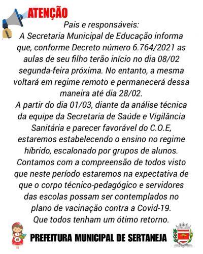 Informativo da Secretaria Municipal de Educação e Cultura