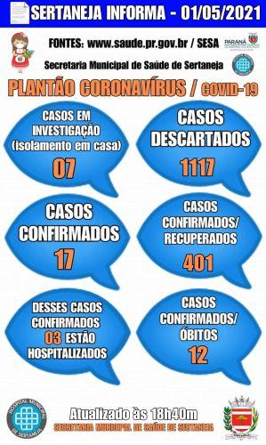 Boletim Informativo Covid-19 01-05-2021