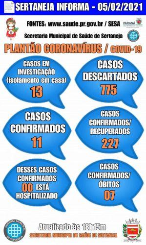 Boletim Informativo Covid-19 05-02-2020
