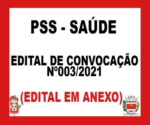 EDITAL DE CONVOCACAO 003/2021