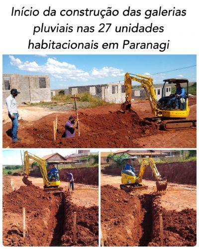 CONSTRUÇÃO DAS GALERIAS PLUVIAIS NAS 27 UNIDADES HABITACIONAIS EM PARANAGI