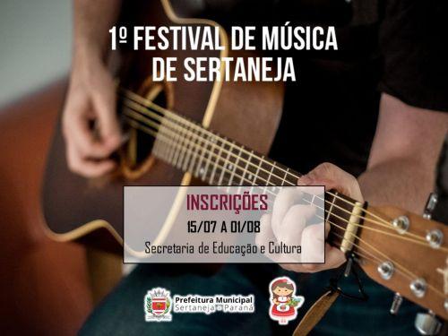 1º FESTIVAL DE MÚSICA DE SERTANEJA