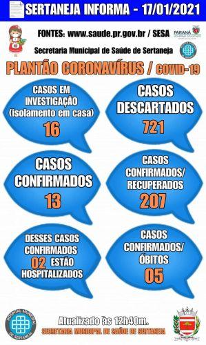 Boletim Informativo Covid-19 17-01-2021