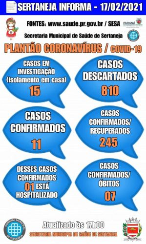 Boletim Informativo Covid-19 17-02-2021
