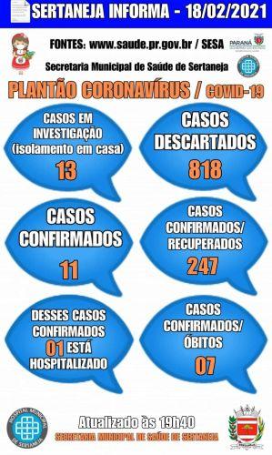 Boletim Informativo Covid-19 18-02-2021