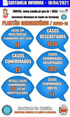 Boletim Informativo Covid-19 18-04-2021