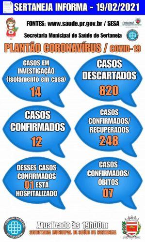 Boletim Informativo Covid-19 19-02-2021