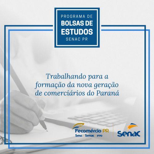 PROGRAMA DE BOLSA DE ESTUDOS - SENAC / PREFEITURA