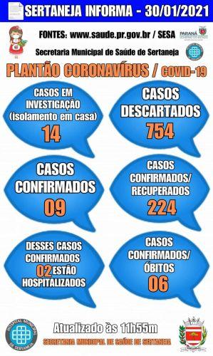Boletim Informativo Covid-19 30-01-2021
