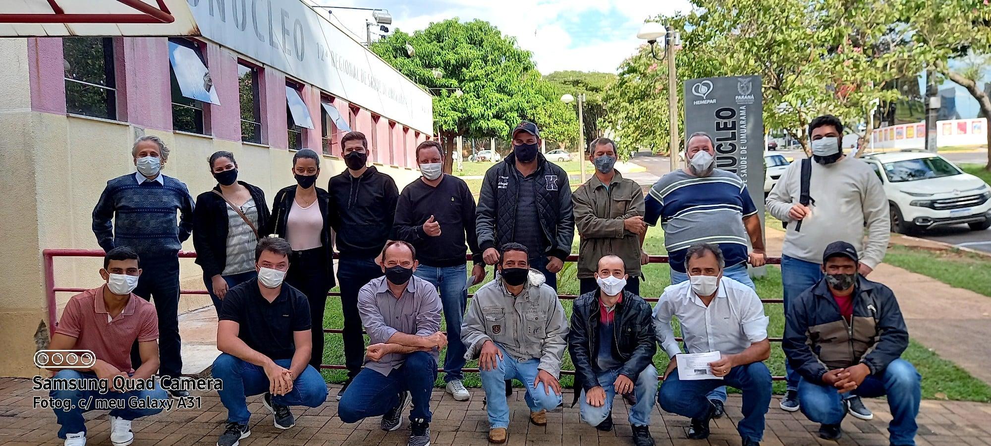 MORADORES DE SÃO JORGE DO PATROCÍNIO REALIZA DOAÇÃO DE PLASMA.