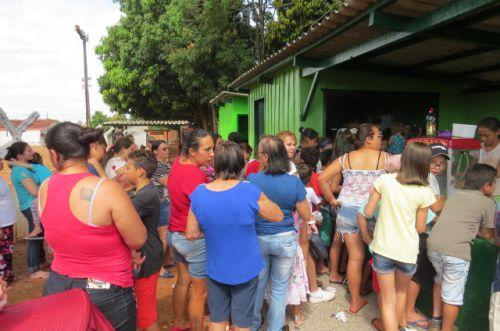 CRIANÇAS SÃO HOMENAGEADAS EM ENTREGA DE PRAÇA RECREATIVA EM SÃO JORGE DO PATROCÍNIO
