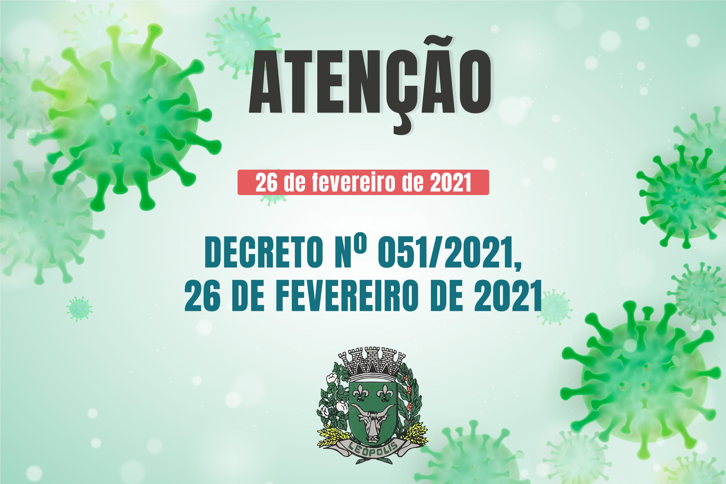 DECRETO 051/2021 - Medidas restritivas de caráter obrigatório