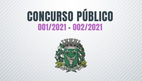 ATUALIZADO - CONCURSO PÚBLICO 001/2021 e 002/2021