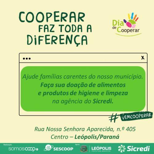 Sicredi - Ajude famílias carentes do nosso município