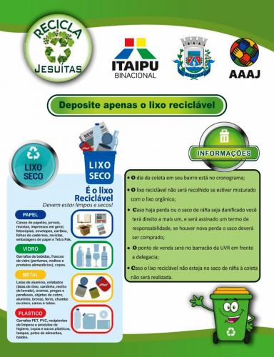 Município investe na Coleta Seletiva e preservação do meio ambiente