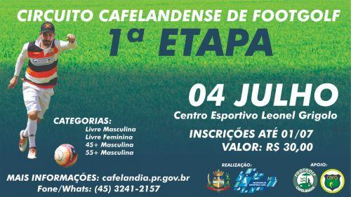 Cafelândia realiza domingo (04) primeira etapa do Circuito Cafelandense de Footgolf