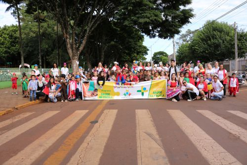 CMEI João XXlll realiza caminhada do Programa Saúde na Escola