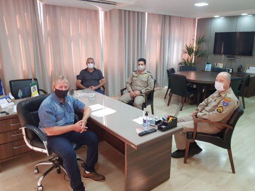 Prefeito Dr. Franus recebe a visita da Defesa Civil