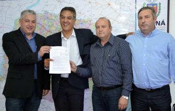 O convênio foi firmado entre o município e o Governo do Estado através da ajuda do deputado estadual Douglas Fabrício