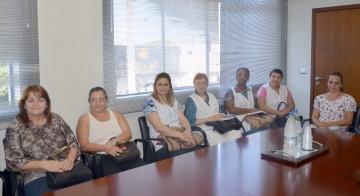 Diretoras e coordenadoras foram recebidas pelo prefeito Baco na tarde da segunda-feira