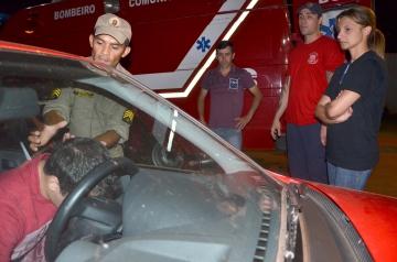 Os alunos aprenderam a como proceder para socorrer uma vitima de acidente