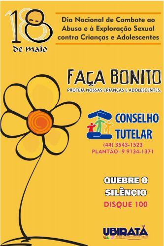 18 de maio - Dia Nacional de Enfrentamento ao Abuso e à Exploração Sexual de Crianças e Adolescentes